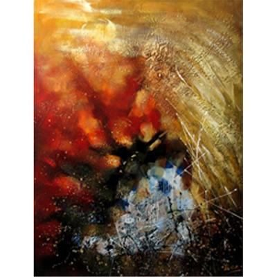 Yosemite Home Decor 39 in. x 59 in. Stormy Weather Hand Painted Contemporary Artwork-DISCONTINUED