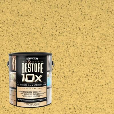 Rust-Oleum Restore 1-gal. Maize Deck and Concrete 10X Resurfacer