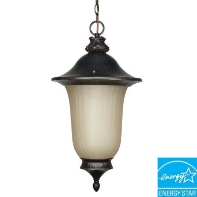 Green Matters 1-Light Hanging Outdoor Old Penny Bronze Lantern