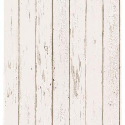 Brewster 56 sq. ft. Weathered Plank Wallpaper