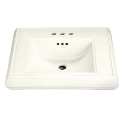 Memoirs 5-1/4 in. Ceramic Pedestal Sink Basin Only in Biscuit with Overflow Drain Product Photo