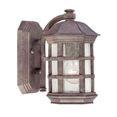 the great outdoors by Minka Lavery Lighthouse Road 1-Light Dark Sienna Bronze Outdoor Wall Mount
