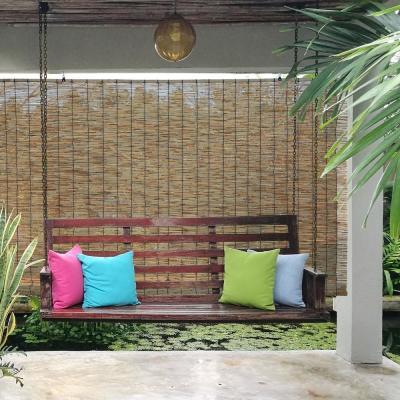 Cordless Light Filtering Bamboo Outdoor Shade
