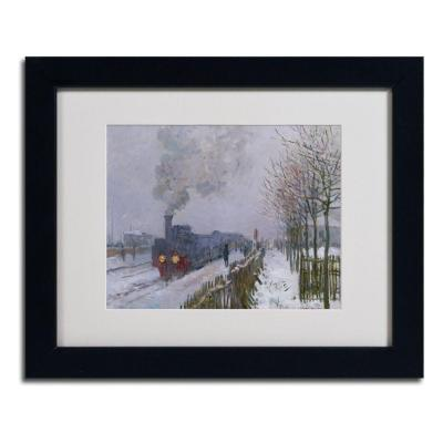 11 in. x 14 in. Train in the Snow Matted Black