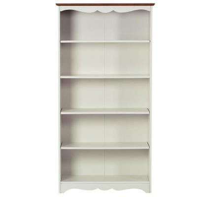 Home Decorators Collection Southport 5 Shelf Open Bookcase In Ivory And Oak 0804100410 The