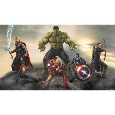 72 in. x 126 in. Avengers Age of Ultron Ground Attack
