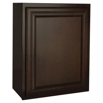 Assembled 24x30x12 in. Cambria Wall Cabinet in Java