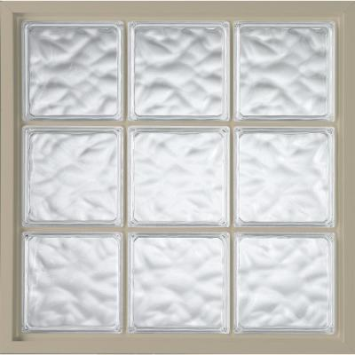 47 in. x 47 in. Acrylic Block Fixed Vinyl Window -