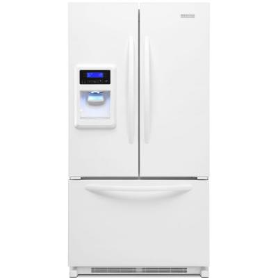 Kitchenaid architect series ii 19 7 cu ft french door refrigerator in white counter depth - Kitchenaid architect counter depth refrigerator ...