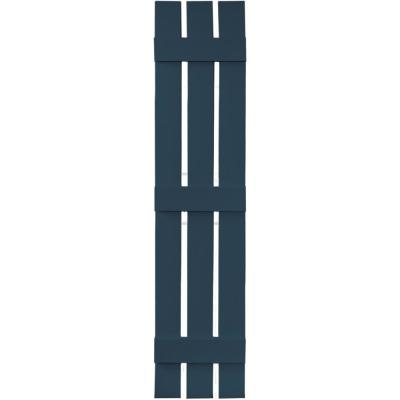 12 in. x 63 in. Board-N-Batten Shutters Pair, 3 Boards Spaced #036 Classic Blue Product Photo