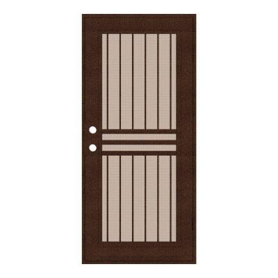 Unique home designs 32 in x 80 in plain bar copperclad for Aluminum doors home depot
