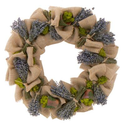 The Christmas Tree Company Lilliputian Lavender Flowerpots 22 in. Dried Floral Wreath-DISCONTINUED