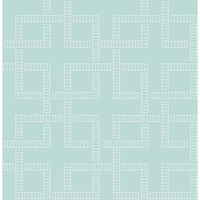 8 in. W x 10 in. H Theory Turquoise Geometric Wallpaper Sample Product Photo