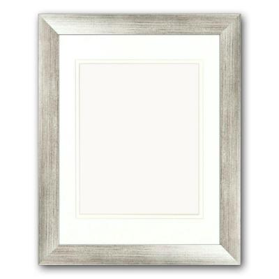 PTM Images 1-Opening. 8 in x 10 in. Matted Silver Portrait Frame (Set of 2)