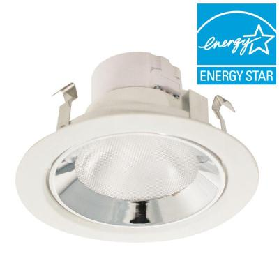 Gold Series 4 in. White and Chrome LED Recessed Light Kit
