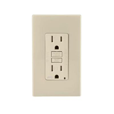 15 Amp Tamper Resistant AFCI Receptacle, Light Almond Product Photo