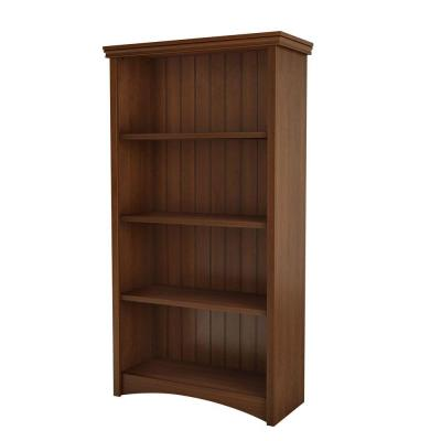 South Shore Gascony 4-Shelf Bookcase in Sumptuous Cherry