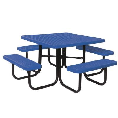 Ultra Play 46 in. Diamond Blue Commercial Park Square Table