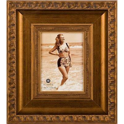 Home Decorators Collection Girona 1-Opening 5 in. x 7 in. Gold Picture Frame-DISCONTINUED