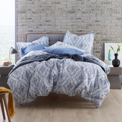 Bukhara Ikat Organic Cotton Percale Duvet Cover Set
