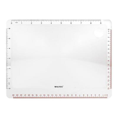 Waltex 270 x 200 mm Magnifier with Ruler
