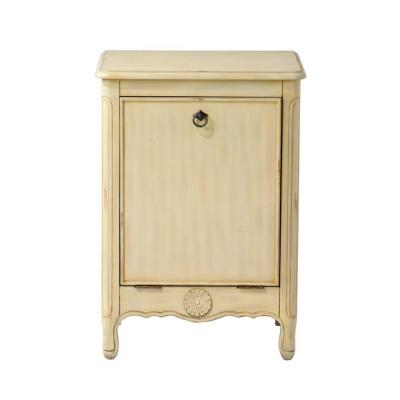 Home decorators collection keys antique cream 21 in w tilt out laundry hamper 0561500410 the - Tilt laundry hamper ...
