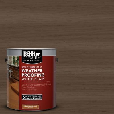 BEHR Premium 1-gal. #ST-141 Tugboat Semi-Transparent Weatherproofing Wood Stain