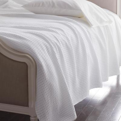 Textured Waffle Cotton and TENCEL™ Lyocell Blanket