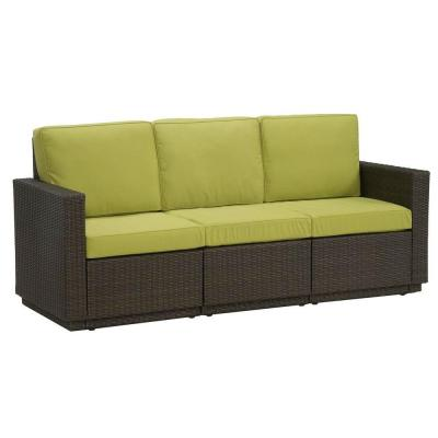 Home Styles Riviera Green Apple 3-Seat Patio Sofa