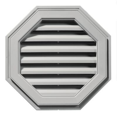 22 in. Octagon Gable Vent in Paintable Product Photo