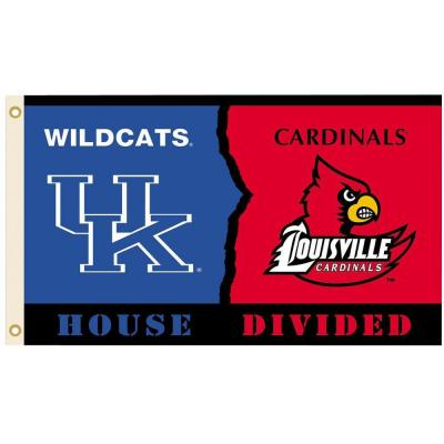 NCAA 3 ft. x 5 ft. Kentucky/Louisville Rivalry House Divided Flag