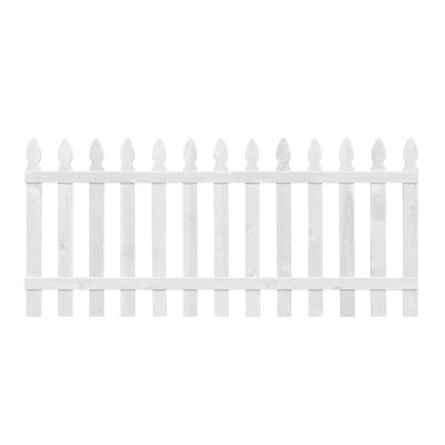 null 3.5 ft. H x 8 ft. W Primed Gothic Fence Panel