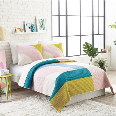 MODSHAPES PINK COTTON QUILT SET BY AMPERSAND