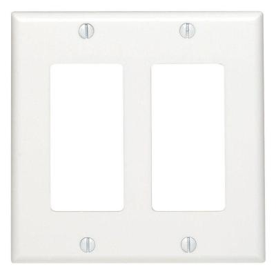 Decora 2-Gang Wall Plate, White Product Photo