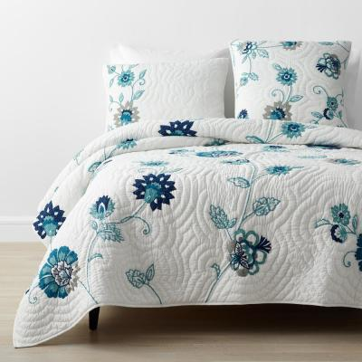 Julienne Multicolored Floral Cotton Quilt
