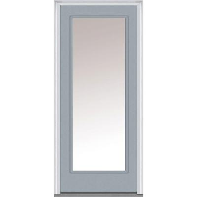 30 in. x 80 in. Classic Clear Glass Full Lite Painted Majestic Steel Prehung Front Door Product Photo