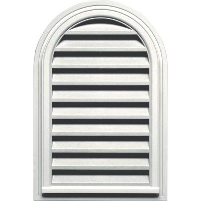 22 in. x 32 in. Round Top Gable Vent in White Product Photo