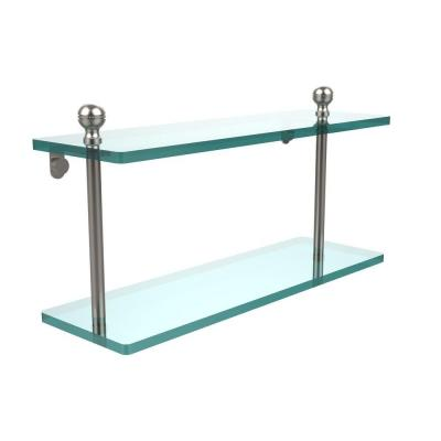 Mambo Collection 5 in. W x 16 in. L 2-Tiered Glass
