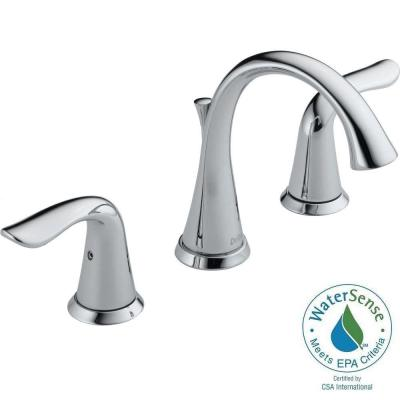 Delta Faucet 3538-MPU-DST Lahara Widespread Bathroom Faucet with Pop-Up Drain Assembly - - Chrome
