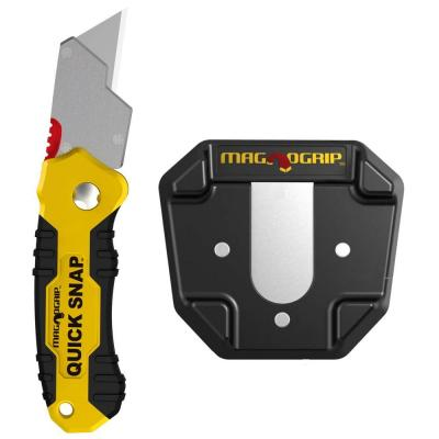 Quick Snap Magnetic Folding Knife Set with Universal Magnetic Holder