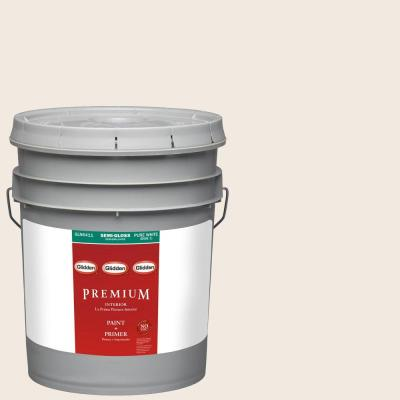 5-gal. #HDGWN03 Antique White Semi-Gloss Latex Interior Paint with Primer