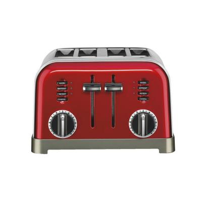 Metal Classic 4-Slice Toaster in Metallic Red