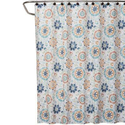 Renee 70 in. W x 72 in. L Fabric Shower Curtain