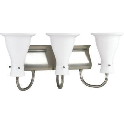 Progress Lighting Lockwood Collection Brushed Nickel 3-light Vanity Fixture P3147-09