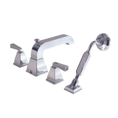 American Standard Town Square 2-Handle Deck-Mount Roman Tub Faucet with Hand Shower in Polished Chrome