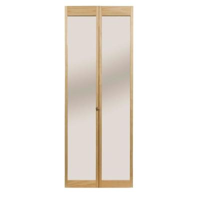 Traditional Mirror Wood Interior Bi-fold Door