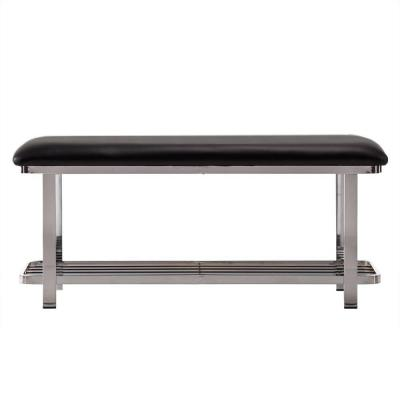 Samuel Bench in Chrome with Black Seat Product Photo