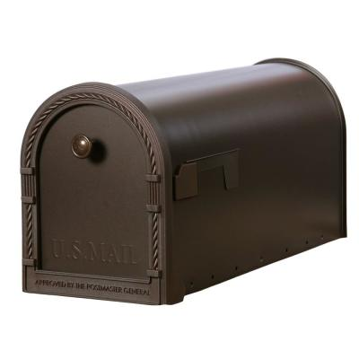 Gibraltar Mailboxes Designer Steel Post-Mount Mailbox with Decorative Frame, Venetian Bronze