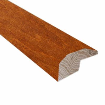 Handscraped Maple Spice/Nutmeg 22/25 in. Thick x 2-1/4 in. Wide x 78 in. Length Hardwood Carpet Reducer/Baby T-Molding Product Photo
