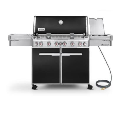 Weber Summit E-670 6-Burner Natural Gas Grill in Black